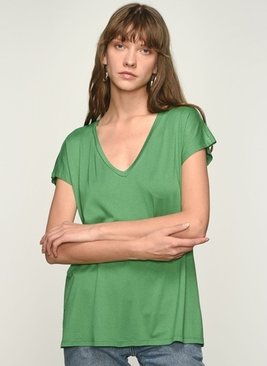 NGSTYLE NGKSS21TS0002 Basic Viskon Tişört Yeşil